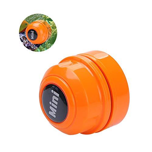 TOWEAR Mini imán cepillo de pecera, limpiador de acuario, limpiador de cristal de pecera, mini imán portátil duradero, limpieza para la extracción de peceras y algas (naranja)