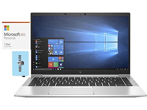 "HP Elitebook 845 G7 Everyday Value Laptop (AMD Ryzen 7 PRO 4750U 8-Core, 16GB RAM, 512GB SSD, AMD RX Vega 7, 14.0"" Full HD (1920x1080), Fingerprint, WiFi, Win 10 Pro) with MS 365 Personal, Hub"