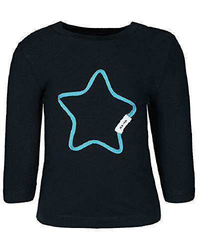 NAME IT Baby Manchon à manches longues en coton biologique Motif étoile bleu Blau/Dark Sapphire 80/9-12 Monate