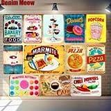 AOXT Sticker Pizza-Poster Blech-Signs Cupcakes Wanddeko