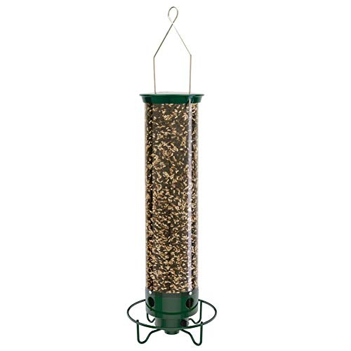 Droll Yankees YF-M Yankee Flipper Squirrel-Proof Bird Feeder, 17.25', Green