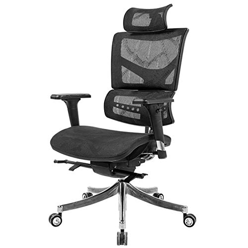 Sillas de escritorio Silla de escritorio giratorio de la silla de oficina para el hogar con los reposabrazos ajustables y los apoyabrazos sillón ejecutivo de malla transpirable Para recepción sala de