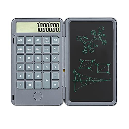 Aibecy Calculadora con tableta de escritura de 6 pulgadas,plegable,inteligente,borrable,gráficos LCD,tablero de escritura a mano,batería recargable,calculadoras de escritorio,pantalla de 12 dígitos