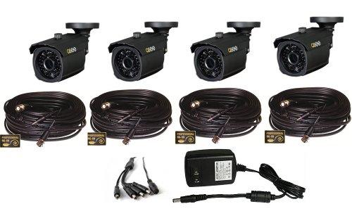 Q-See QD6012B (4PK) Weatherproof / 600TVL Resolution / 100ft Night Vision / 4.6mm Lens