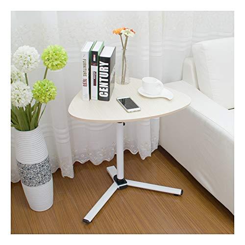 LAA Mesa Auxiliar Portátil, Ajustable Mesa De Ordenador Portatil, Mesa Auxiliar, Fácil De Mover Mesa Cama Ruedas (Color : White Maple Color)