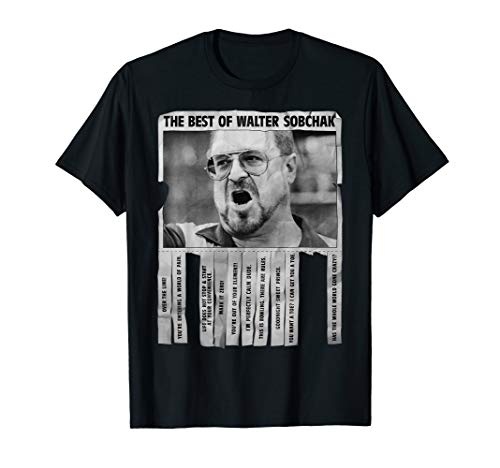 The Big Lebowski Best Quotes Of Walter Sobchak Poster T-Shirt