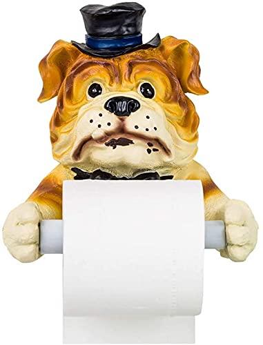 HKAFD Cuadro de pañuelas Cubierta Decoración Cuarto de baño Caja de pañol Caja de la Pared Colgando Creativo Lindo Perro Amanecer Rollo Rollo Papel Papel, 19x19cm, Marrón