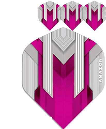 ABC Darts Flights - Pentathlon Amazon Silver Pink - 10 sätz (30 stück Dart Flights)