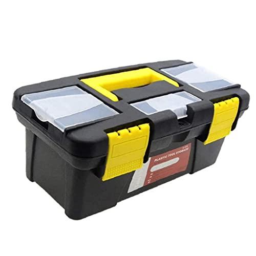 Herramientas de herramientas portátiles 10 pulgadas de 2 pulgadas de plástico Herramienta de mano caja de almacenamiento de pecho con compartimento