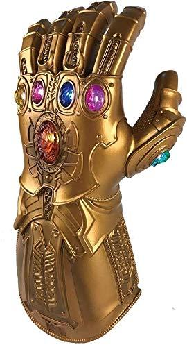 Rfeifei Fting Thanos Infinity Gauntlet Guanto for Adulti con Il Guanto LED Avengers 4 Film Toy for Collezione Regali di Compleanno del Capretto (Colore: Oro, Dimensione: Bambino)