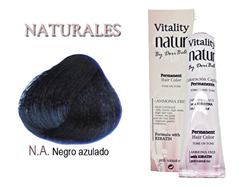Vitality Natur Coloration à la kératine sans ammoniaque Noir 60 mlTon noir bleuté.