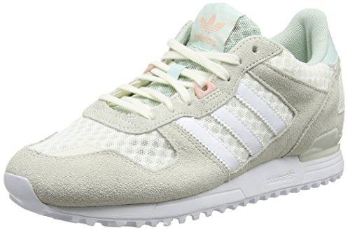 adidas ZX 700 W, Women's Sneakers, White (Casbla / Ftwbla / Vervap), 9 UK (43 1/3 EU)