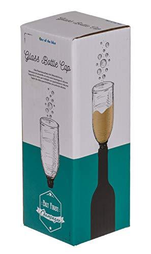 Out of the Blue 79/4978 - Glas Flaschenaufsatz mit Silikondichtung Sektglas, ca. 16 cm