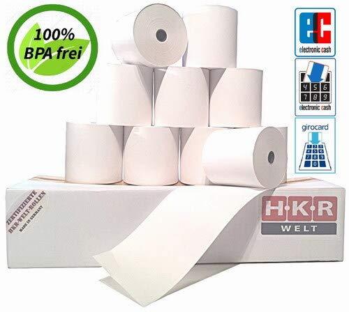 50 EC-Cash Rollen für Olympia CM 811 SEPA Lastschrifttext - Thermorollen 57/50/12 Ø 63mm - zertifizierte HKR-Welt® Bonrollen aus Thermopapier - BPA (Bisphenol-A) frei