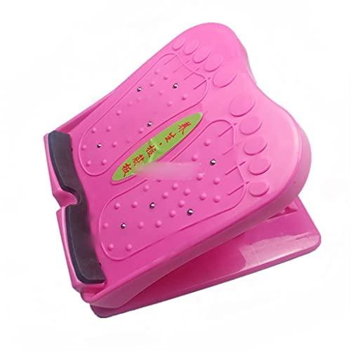 Cife Taburete Plegable Pedal Tablero De Estiramiento ABS Protección del Medio Ambiente Tablero De Fitness Pie Masaje Muscular Pierna Pérdida De Peso Tabla De Ejercicios (Color : Red)
