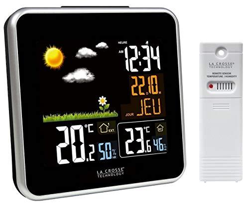 Station météo avec écran LCD couleur La Crosse Technology WS6821-A-BLA