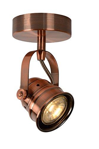 Lucide CIGAL - Spot Plafond - Ø 9 cm - LED - GU10 - 1x5W 2700K - Cuivre