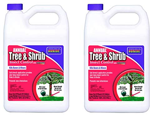 Bonide Pest Repellents (Bonide 611 Annual Tree and Shrub Insect Control, 128 Fl oz(1 Gallon) (Pack of 2))