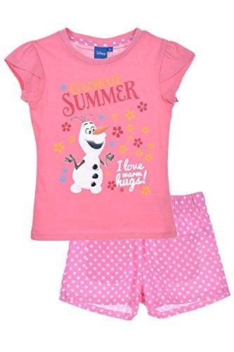 AUSRÜSTUNG 2 TLN Kurze Hosen + T-Shirt Frozen ROSA 5 J