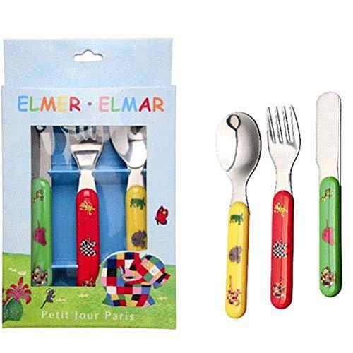 Petit jour - EL903N - Repas de Bébé - Set de 3 Couverts Elmer