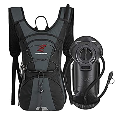 SHARKMOUTH FLYHIKER Hiking Hydration Backpack Pack with 2.5L BPA Free Water Bladder, Lightweight and Comfortable for Short Day Hikes, Day Trips and Trails, JungleGreen