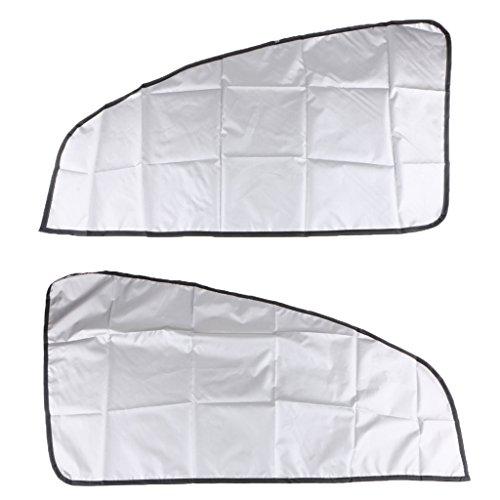 non-brand 1 Paar Magnetische Sonnenschutz Vorhang UV Schutz Doppel Seiten, Auto Fenster Sonnenschirme Decken für Auto Fenster