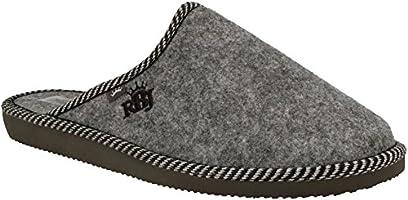 Zapatillas De Casa para Hombre De Fieltro De Lana Natural Calientes Transpirables Bienestar Natural Handmade Calidad