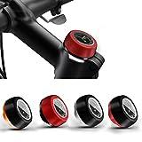 Jiankun Stem Watch - Reloj para bicicleta de montaña, color negro y rojo