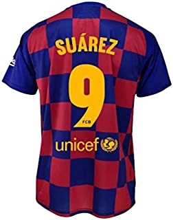 Camiseta 1ª equipación FC. Barcelona 2019-20 - Replica Oficial con Licencia - Dorsal 9 Suarez - Adulto Talla S