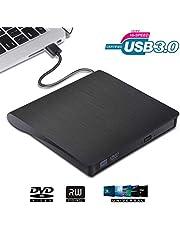 VGROUND Grabadora CD/DVD Externa, Ultra Slim Portátil Lector USB 3.0 Unidad de DVD Externa para Macbook, Laptop Desktops, PC, Windows 7/8/10/XP/Vista/Mac OS