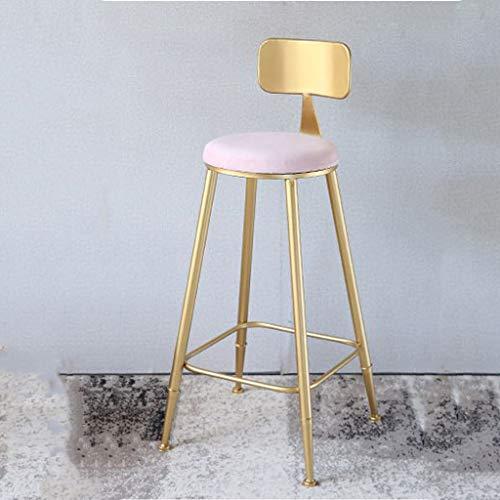 LHJBDSCCHL barkruk, moderne eenvoud, barkruk, goudkleurig, metaal, kussen van velours, zithoogte 85 cm