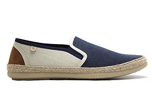 Garzón - Zapatillas, Alpargata, Suela de Goma imitación Esparto, para: Hombre Color: Jeans Talla:43