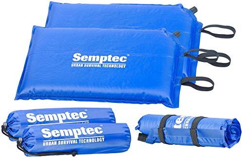 Semptec Urban Survival Technology Sitzkissen faltbar: 2er-Set selbstaufblasende Outdoor-Thermo-Sitzkissen, 24 x 1 x 42 cm (Camping-Sitzkissen)