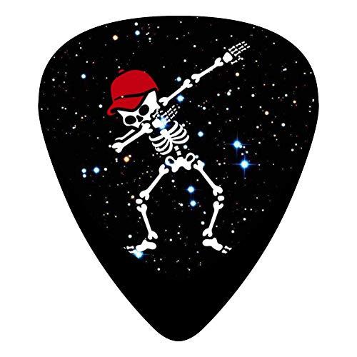 Dabbing Skull Baseball Cap Fender Celluloid Guitar Picks 3D Printed 12 Pack Thin Medium Heavy Gauges For Musician