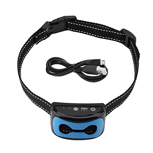 Pssopp Collar de Entrenamiento de Collar de Perro contra la Corteza Collar Vibrante Recargable e Impermeable Collar de Entrenamiento de Perro Que ladra con vibración de Tono para Perros
