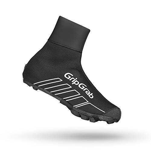 GripGrab RaceThermo X Waterproof Winter MTB/CX Overshoes - Thermal Windproof Neoprene Off-Road Cycling Shoe-Covers Black