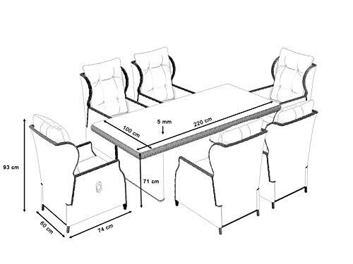 ARTELIA Bariya L Polyrattan Sitzgruppe Lounge Esstisch-Set - Premium Gartenmöbel-Set für Garten, Wintergarten und Balkon, Balkonmöbel, Terrassenmöbel Sandfarben - 2