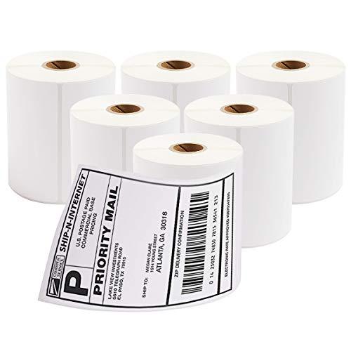 Etiquetas térmicas de envío de 4 x 6 pulgadas, 2100 etiquetas autoadhesivas en blanco directo,...