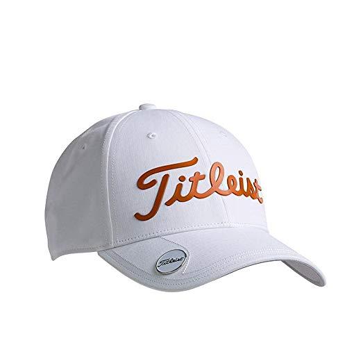 TITLEIST Performance Ball Marker Casquette De Baseball, Blanc (Blanco/Naranja Th9apbmwe-8), Unique...