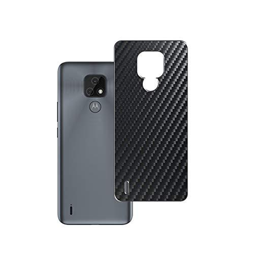 VacFun 2 Piezas Protector de pantalla Posterior, compatible con Motorola moto e7, Película de Trasera de Fibra de carbono negra