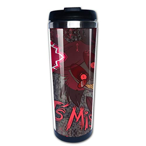 Riiat Hazbin Hotel - Let'S Misbehave Coffee Cup Cartoon Thermos Double Wall Vacuum Thermos Portable Tumbler Travel Mug