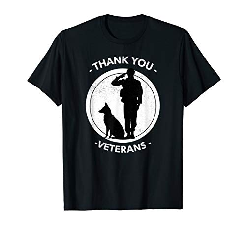 Thank You Veterans - Honoring Our Military & K9 Forces T-Shirt