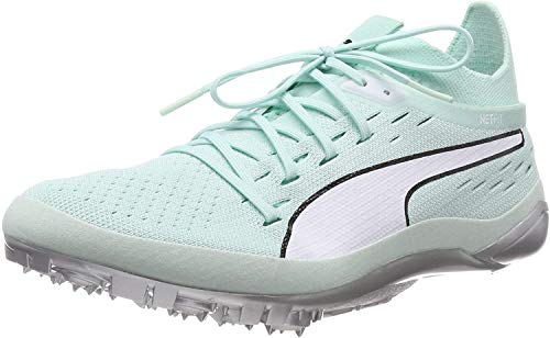 PUMA Evospeed Netfit Sprint 2, Zapatillas de Atletismo Unisex-Adulto, Azul (Fair Aqua White), 44.5 EU