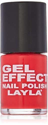 Layla Cosmetics Milano Gel Effect Vernis à Ongles Coral Red 10 ml