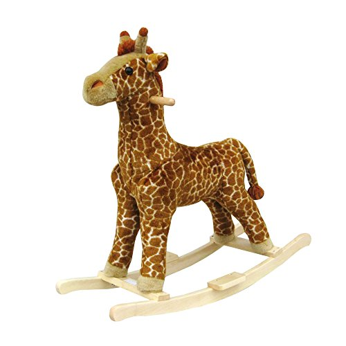 Cheapest Prices! Happy Trails Giraffe Plush Rocking Animal Ride On (Renewed)