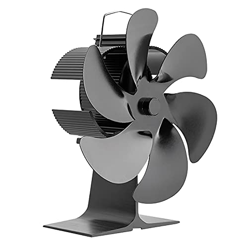 Ventilador de chimenea de estufa de 6 aspas, ventilador de calor, ventilador silencioso de energía térmica para quemador de leña en casa, calefacción de casa, chimenea que circula aire caliente, ahorr