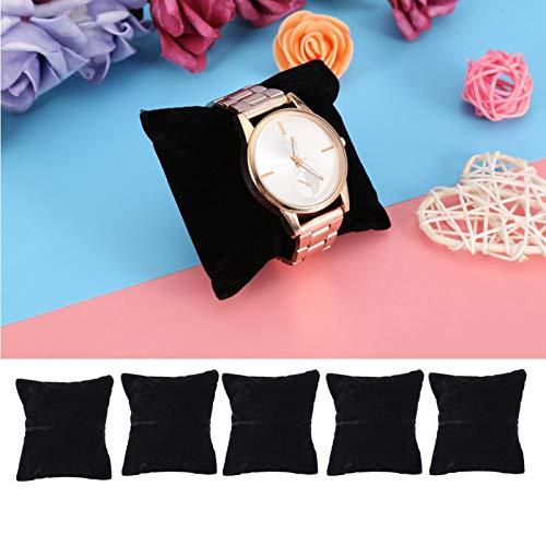 DAUERHAFT Soporte de Reloj Duradero Almacenamiento de Joyas para exhibición de Joyas(Black Velvet)