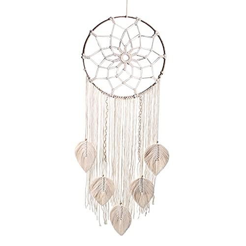 MagiDeal Macrame Colgante de Pared Tapiz atrapasueños Bohemios atrapasueños decoración del hogar Regalos - Círculo de Hierro