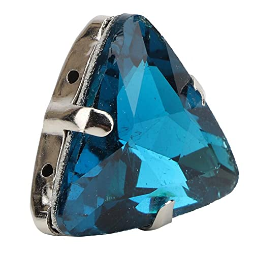 Coser diamantes de imitación de cristal gemas garra diamantes de imitación cinturón serie para broches zapatos vestido delgado(blue)
