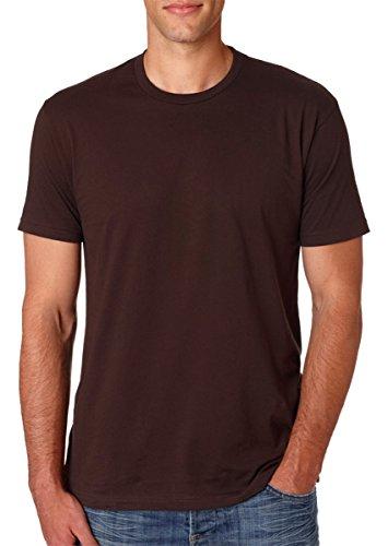 Next Level Mens Premium Fitted Short-Sleeve Crew T-Shirt - XX-Large - Dark Chocolate
